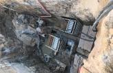 Строительство участка водопровода и участка канализации Шереметьево Паркинг методом разрушения старой трубы.