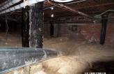Расширение и протягивание трубы футляра диаметром 160 мм из подвала здания