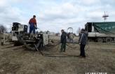 Установка бурового комплекса и подключение к гидростанции
